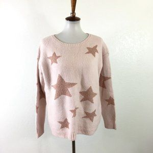 NWT Loft Soft Pink Star Sweater